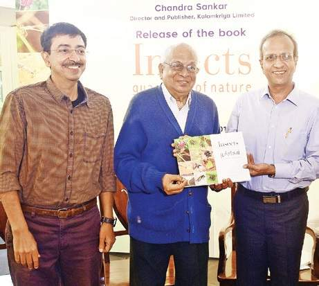 S Muthiah launching the book